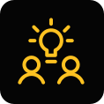 collaborate in dynamic work environments icon