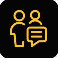 communicate methods and findings icon