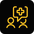 healthcare communication icon