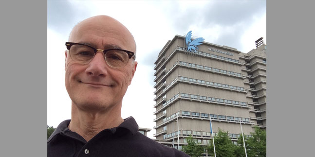 Dr. David Luvison pictured above outside of VU University in Amsterdam