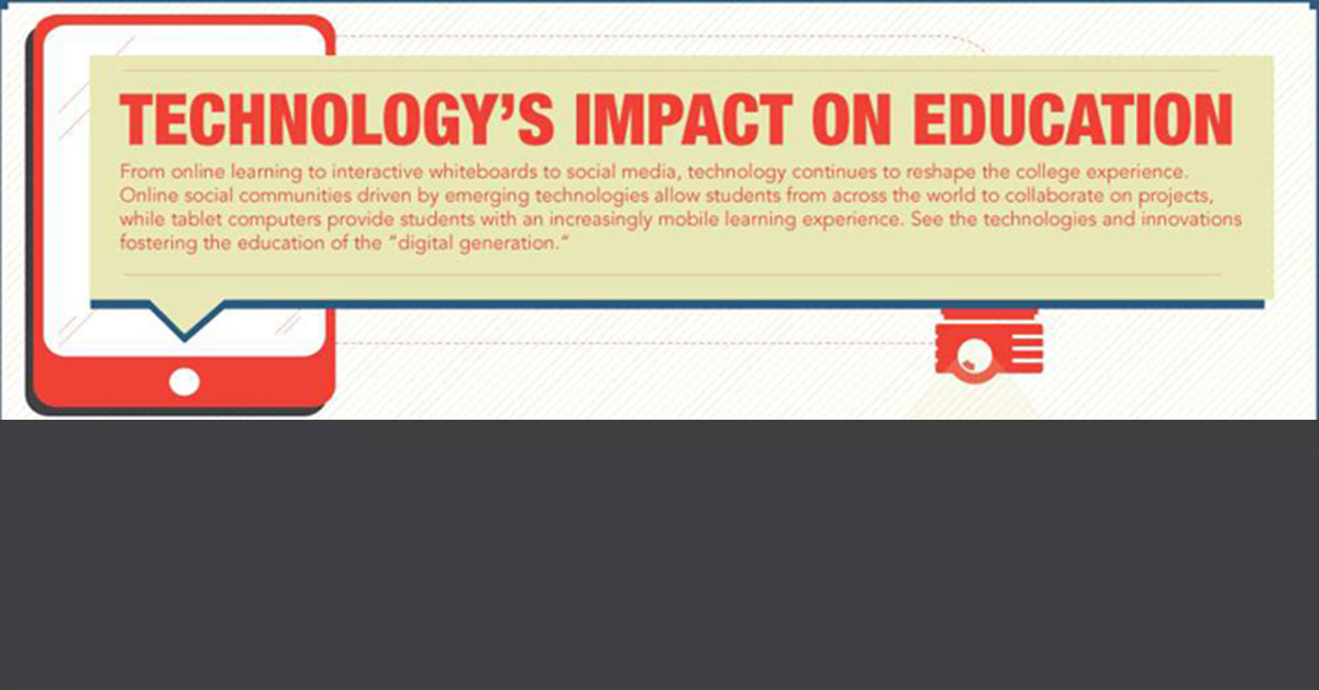 impact of internet technology to education The 6 main ways technology impacts your daily life connected to the internet convenience in education technology has impacted every aspect of our lives.