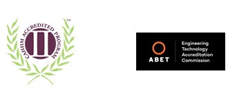CAHIIM and ABET accreditation logos